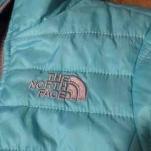 Girls North face reversible winter jacket